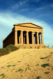 De Griekse tempel van Concordia in Sicilië - Italië Royalty-vrije Stock Afbeelding