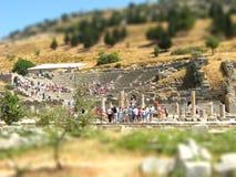 De Griekse verschuiving van de amfitheaterschuine stand Stock Afbeelding
