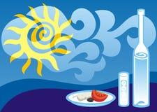De Griekse zomer Stock Afbeelding