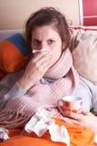 De griep Stock Foto