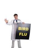 De griep van de vogel Stock Fotografie