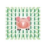 De griep van varkens Royalty-vrije Stock Foto's