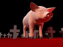 De griep van varkens Royalty-vrije Stock Afbeeldingen