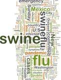 De griep van varkens wordcloud Royalty-vrije Stock Afbeeldingen