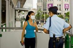 De griepalarm van varkens in Bangkok Stock Foto's