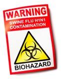 De griepwaarschuwingssein van varkens Stock Foto
