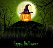 De Griezelige Achtergrond van Halloween Stock Afbeelding