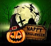 De Griezelige Achtergrond van Halloween Royalty-vrije Stock Afbeeldingen