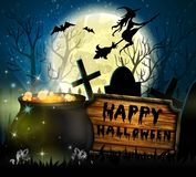 De Griezelige Achtergrond van Halloween Royalty-vrije Stock Fotografie