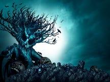 De Griezelige Achtergrond van Halloween stock illustratie
