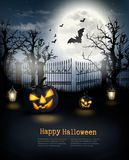 De Griezelige Achtergrond van Halloween Royalty-vrije Stock Foto's