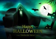 De Griezelige Achtergrond van Halloween stock afbeeldingen
