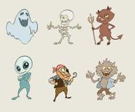 De griezelige karakters van Halloween Royalty-vrije Stock Afbeelding