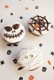 De griezelige muffin van Halloween cupcakes Royalty-vrije Stock Fotografie
