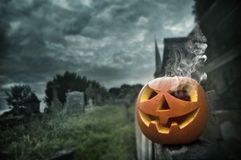 De griezelige Nacht van Halloween Royalty-vrije Stock Foto