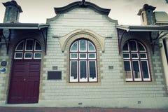 De griezelige oude bouw Stock Foto's