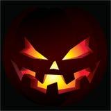 De griezelige pompoen van Halloween Stock Afbeelding