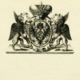 De griffioenen van het wapenschild whith Stock Afbeeldingen