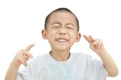 De grijnslach van kinderen Royalty-vrije Stock Foto