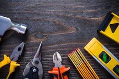 De grijpende hamer van de het staalsnijder van tangtangen probeert Stock Afbeelding