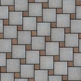 De grijs-bruine het Bedekken Plakken legden afwisselend Groot en stock afbeelding