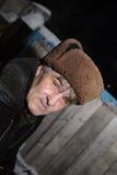 De grijs-haired man Stock Afbeelding