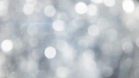 De grijze abstracte achtergrond van cirkel bokeh lichten Royalty-vrije Stock Foto