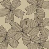 De grijze achtergrond van het bloempatroon Stock Afbeelding