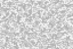 De grijze achtergrond van de pixelcamouflage Stock Foto