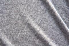 De grijze achtergrond van de stoffentextuur, Verfrommelde stoffentextuur, doekachtergrond Royalty-vrije Stock Foto's