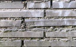 De grijze als achtergrond close-up van de bakstenen muurtextuur en royalty-vrije stock foto