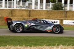 De grijze auto van het furaiconcept van Mazda Stock Afbeeldingen