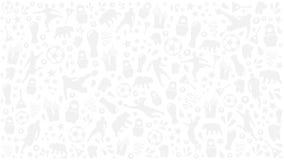 De grijze concurrentie van Rusland van de achtergrondvoetbalkop 2018, grijs patroon Stock Fotografie