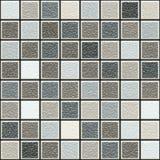 De grijze en bruine 3d structuur betegelt patroon stock afbeelding