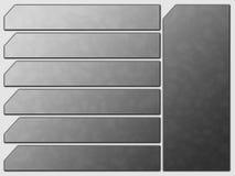 De grijze Futuristische Knopen van de Steen van de Navigatie van de Website Stock Fotografie
