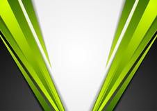 De grijze, groene en zwarte collectieve achtergrond van technologie Stock Foto