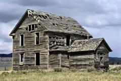 De grijze Kant van het Zuidwesten van het Huis Stock Afbeeldingen