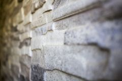 De grijze Muur van de Steen Royalty-vrije Stock Afbeelding