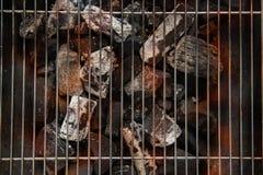 De Grill hoogste mening van de barbecuebrand, over Zwarte Achtergrond Stock Afbeelding
