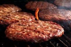 De Grill van de hamburger Stock Afbeeldingen