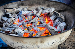 De Grill van de houtskool Stock Foto
