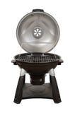 De Grill van de houtskool die met een het knippen weg wordt geïsoleerde Royalty-vrije Stock Afbeelding