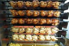 De grill van de kip Stock Foto's