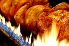 De grill van de kip Royalty-vrije Stock Foto's
