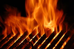 De Grill van de vlam Royalty-vrije Stock Afbeeldingen