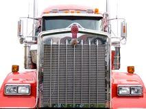 De grill van het staal van rode vrachtwagen Royalty-vrije Stock Afbeeldingen