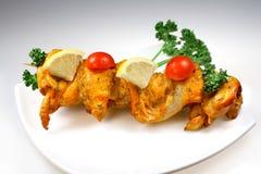 De grillvlees van de kip met groenten Royalty-vrije Stock Fotografie