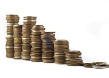 De groei of economische crisis royalty-vrije stock fotografie