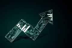 De groei en financiënconcept stock illustratie