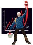 De groei en succes Stock Foto